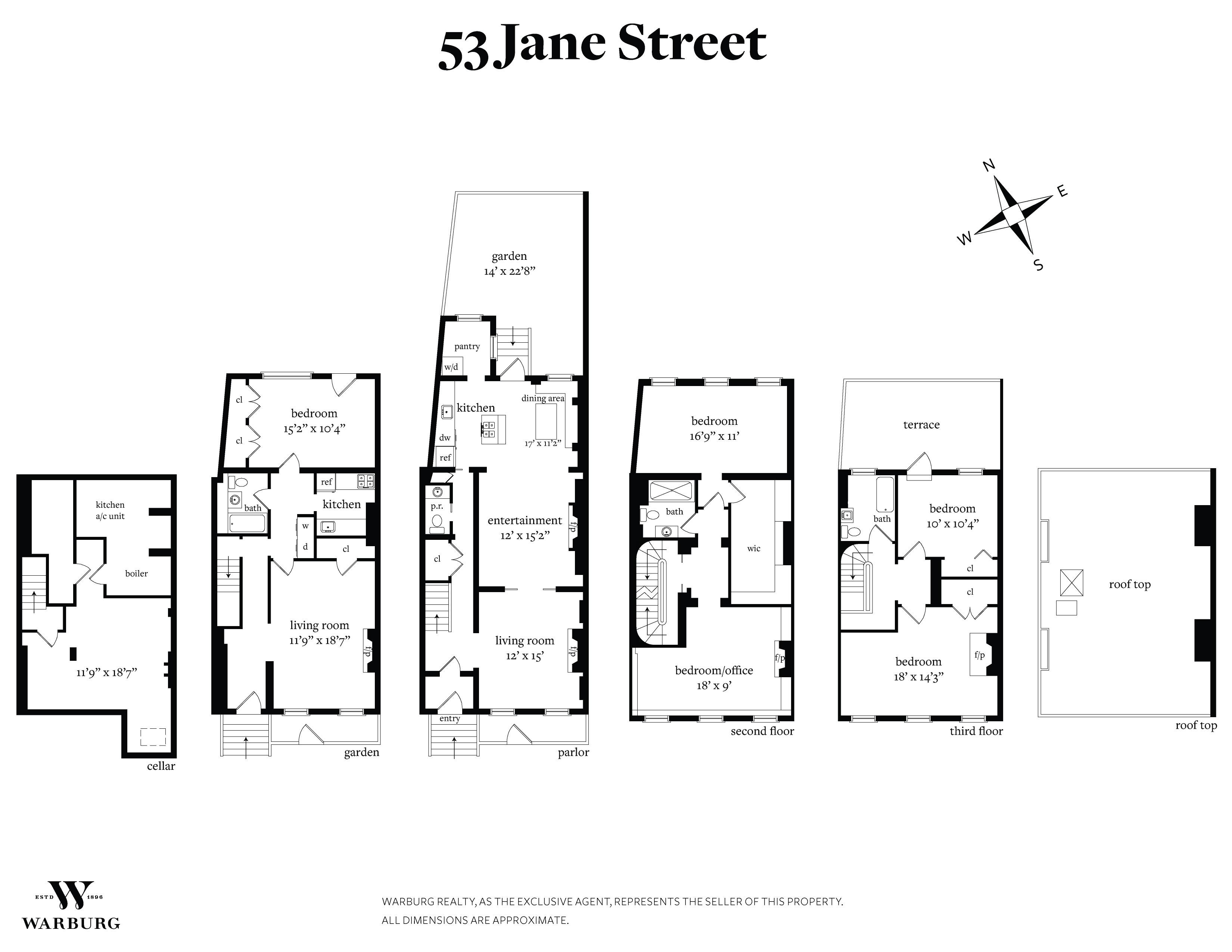 53 Jane St , Apt Building, West Village, NY 10014 - WR-292947