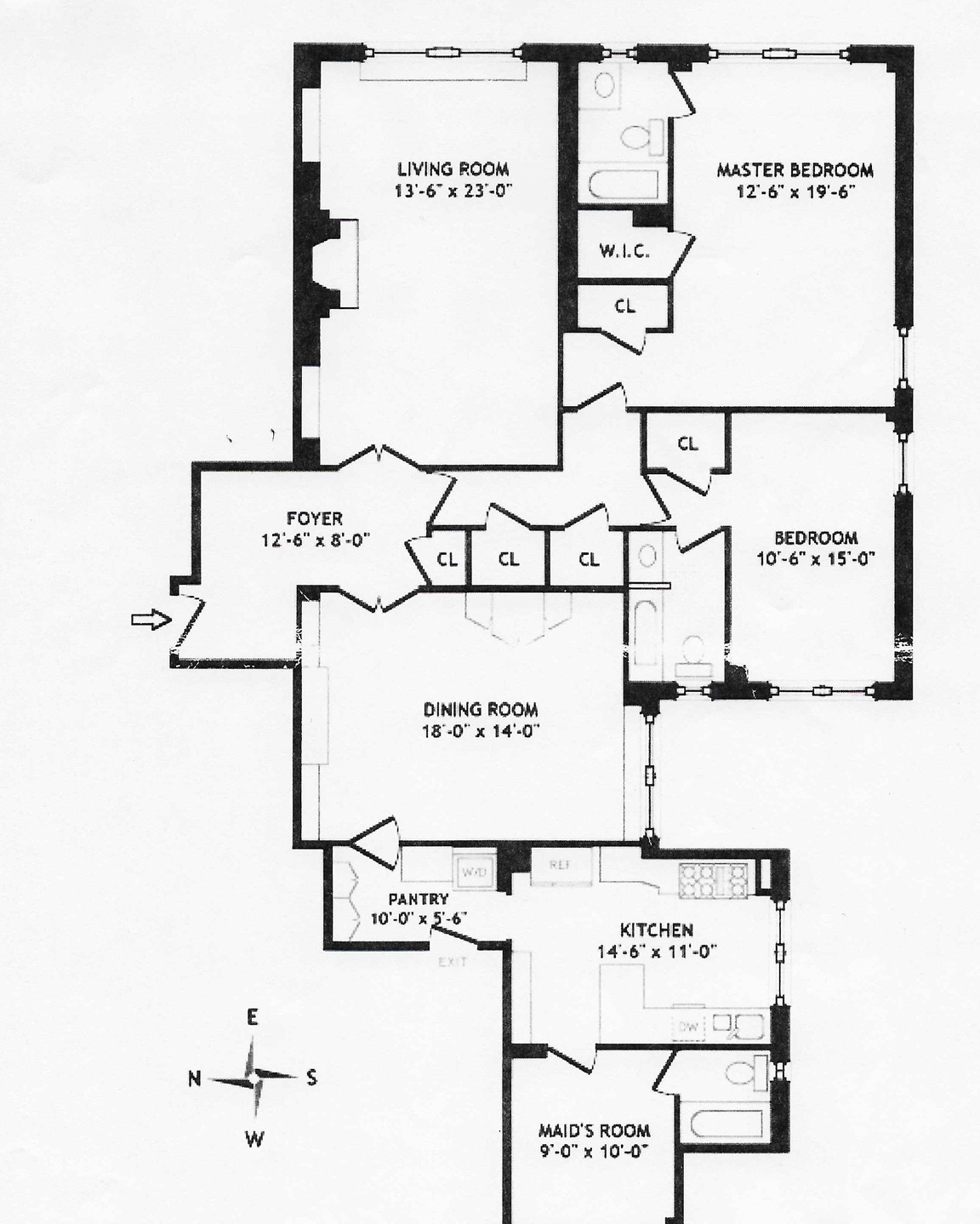 130 east 75th st 10d new york ny 10021 berkshire hathaway Appliances Refrigerators floor plan