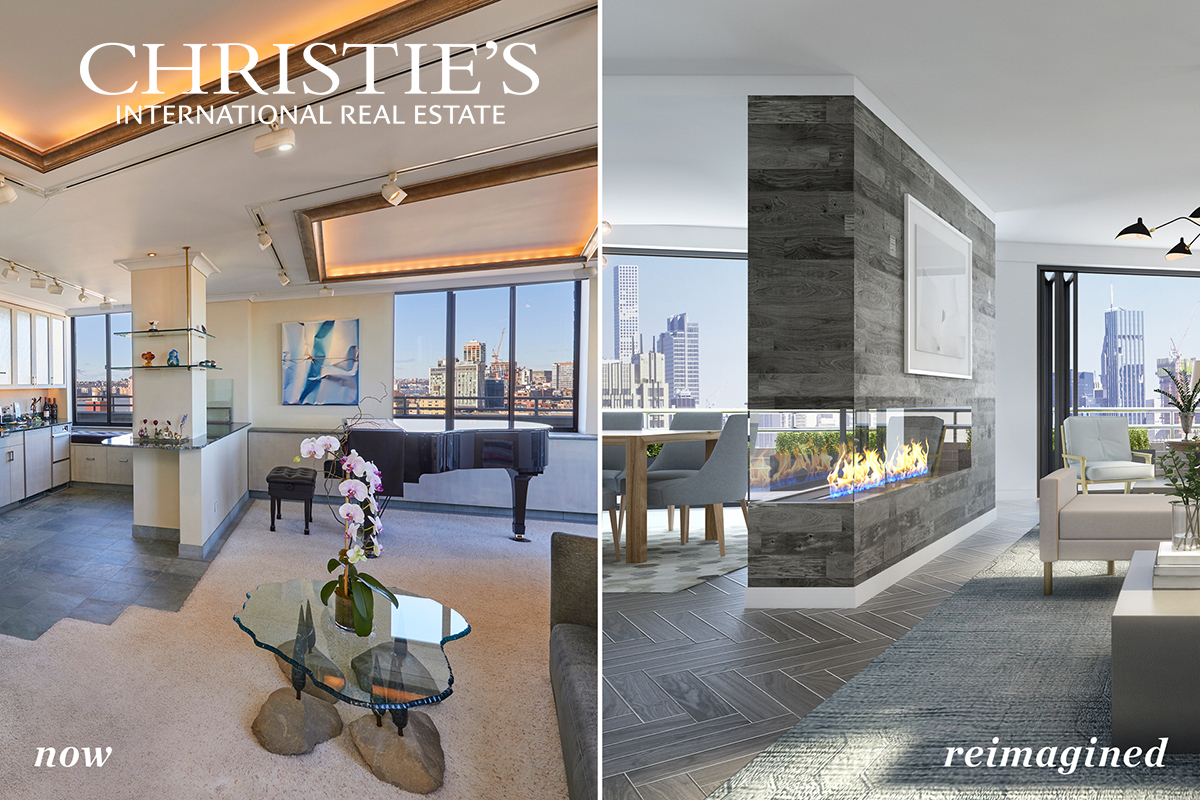 Treasure in the West Village!  Welcome to the 19th Floor at 140 Charles Street! This expansive full-floor condominium with keyed elevator access has multiple outdoor spaces, including a wraparound terrace, two master-size bedrooms and potential for a third bedroom, two full bathrooms, a sauna, a steam room, a full-size stacked washer and drier, a full dining room, and panoramic views all the way to the Statue of Liberty, the Hudson River, the Empire State Building, and West Village.   At over 2500 Square Feet, this spectacular home could be lived in as-is or bring your architect and create a West Village masterpiece.   There is also an opportunity to combine 19th floor with the two adjacent one-bedroom apartments located on the 18th floor.   The amenities at 140 Charles Street are unparalleled in the West Village of Manhattan. This 22-story luxury condominium is one of the tallest buildings in the West Village. Residents have access to 24-hour concierge services, a parking garage with direct elevator access to apartments, and a keyed private elevator to the 19th floor.  Nearby are the Whitney Museum of American Art, Hudson River Park, the High Line, Chelsea Arts District, and enough shops to satisfy all styles, along with some of the best restaurants in New York  City. The location of 140 Charles Street is within easy access to all public transportation.