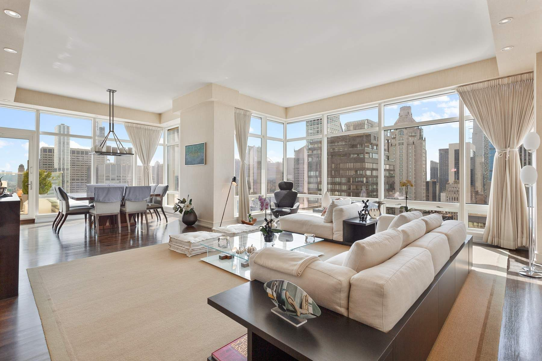 Amazing Terrace!!!! Views, Views and more Views!Picture yourself on this beautiful terrace, entertaining your friends or enjoying it by yourself, watching the endless and amazing iconic views of New York City.This luxurious apartment has it all: move in condition, 658 sqft terrace, West and Southern panoramic open views, 11 foot ceilings (except gallery to accommodate ceiling lights), floor to ceiling windows , 2 entrances to the terrace, hardwood and marble floors, CAC,  washer/dryer  and chef's eat-in-kitchen.Enter this home through a 658 sqft gallery leading to a very spacious and perfectly proportioned corner living room  and dining room  with a door leading  to the grand terraceThe large master bedroom has  access to the terrace,  ample closets , an en-suite marble master bathroom with double sinks, soaking tub and separate shower The large 2nd bedroom has en-suite bath The 3rd bedroom ( was converted into an office/den (closet became a bar)The apartment has 3 full baths and a powder roomThe exquisite Poggenpohl Kitchen has state of the art appliances iby Wolf, Sub-Zero and Miele, including, wine cooler. Central air conditioning and heating are separately zoned through the apartment .The apartment can be rented furnished or unfurnished .Built in 2005 , the Beacon Court is famous for its incredibly beautiful lobby, the quality of the Services including Concierge , 24hr Doorman and Valet Parking, an Elliptical Drive-in Courtyard, and on the 29th floor, a fully equipped Fitness Room, a Barre Exercise Room, a Private Lounge, a Business Center, Children's Playroom and Kitchen.