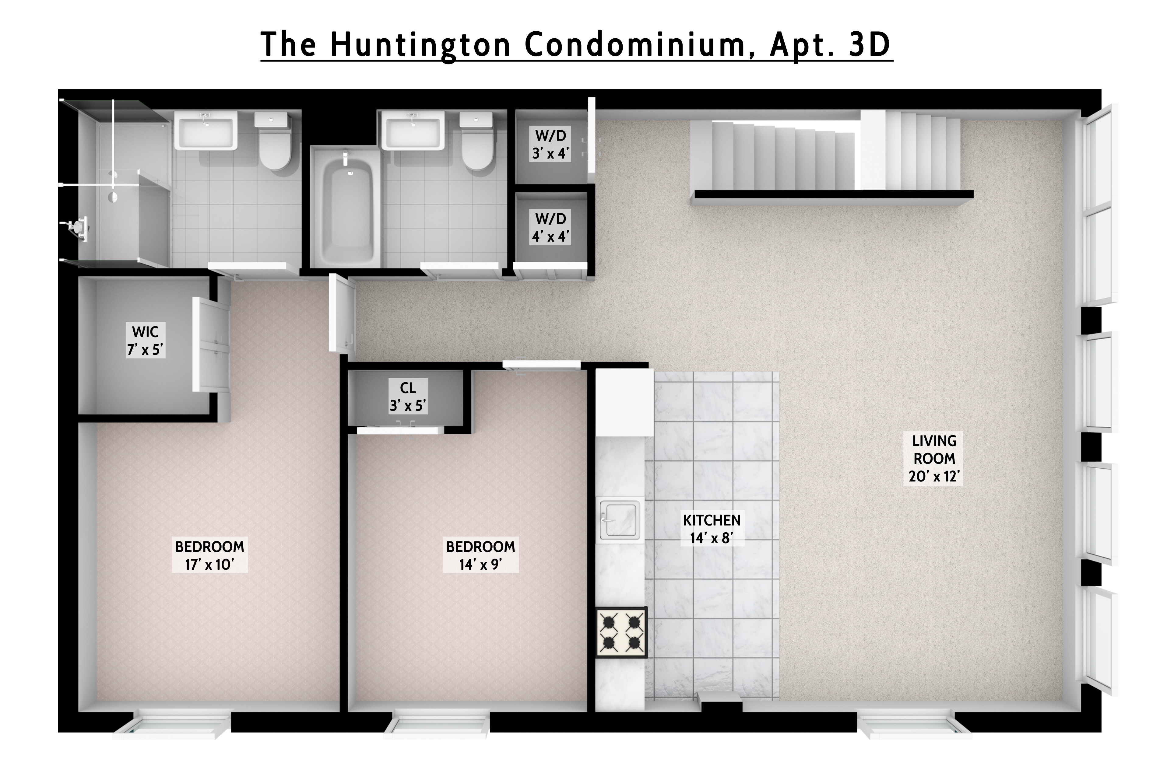 Apartment for sale at 40 Huntington Street, Apt 3D