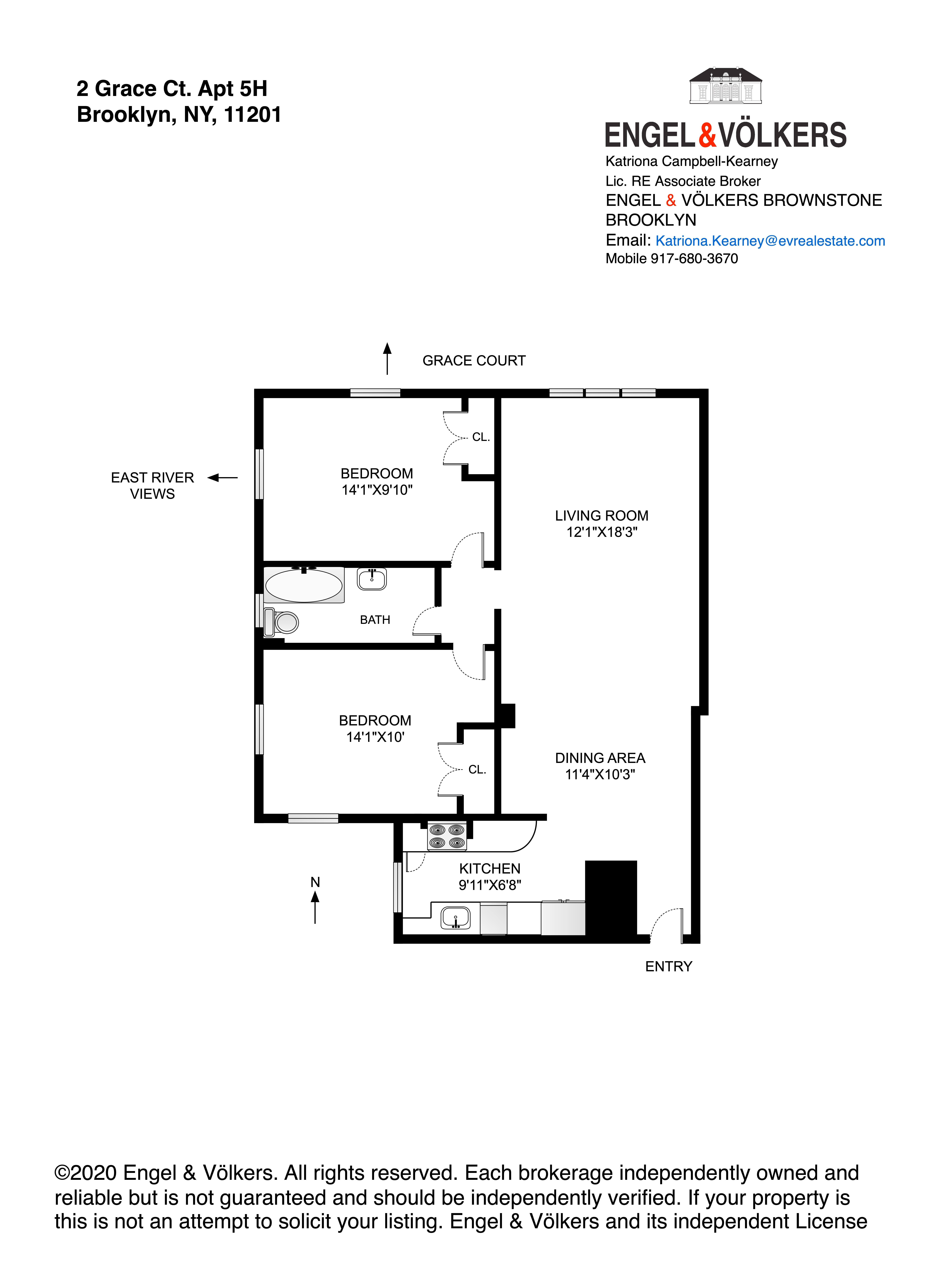 Apartment for sale at 2 Grace Court, Apt 5H