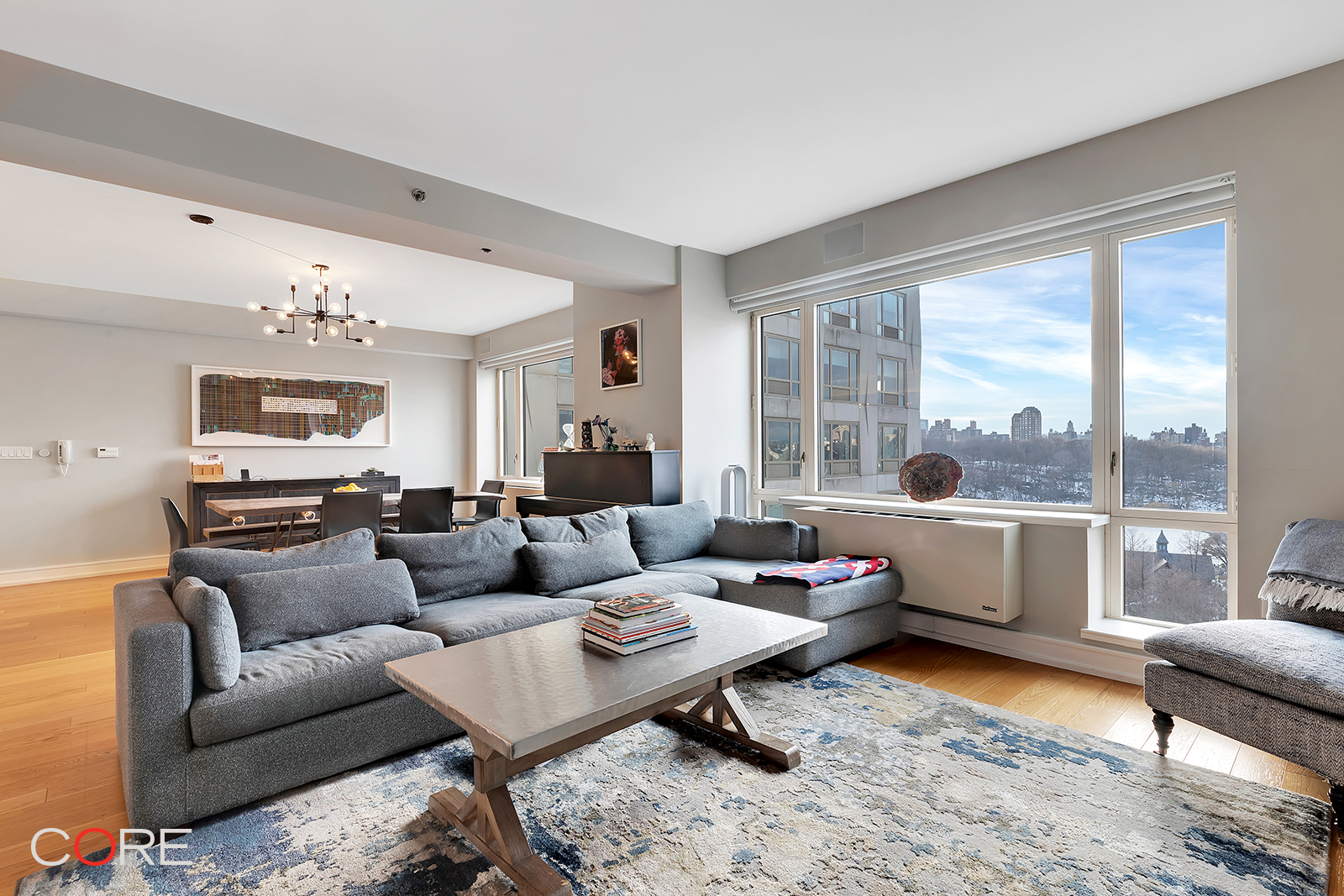 One of the largest layouts available at One Museum Mile, this Central Park-facing three or four-bedroom condo offers the best in design, flexibility, space, view and customization. With oversized windows overlooking the most beautiful corner of Central Park and designed by Robert A.M. Stern Architects and Andre Kikoski, this home offers a gracious layout including a kitchen with top-of-the-line Bosch and Thermador appliances and granite countertops, a master suite with a huge walk-in closet and an en-suite bathroom, and one of the most expansive great room configurations in the building. The closets have been completely customized and the apartment comes wired for sound with built-in Sonos speakers.  The building offers residents both timeless architecture and generous lifestyle amenities including a landscaped roof deck with outdoor heated pool, residents' lounge with fireplace, fitness center with terrace, children's playroom with a window wall to fitness center, game room, formal dining room facing Central Park with a fully equipped catering kitchen, media lounge, card room, rooftop lounge facing Central Park, bicycle storage and cold storage. A full-time concierge, peak time door person coverage, and an on-site resident manager provide residents with discreet and exceptional service. Residents are greeted in the main lobby by a 44-foot long alabaster-inspired art glass wall by Andre Kikoski and Weil Studio. Parking in the on-site garage is available by a separate agreement.