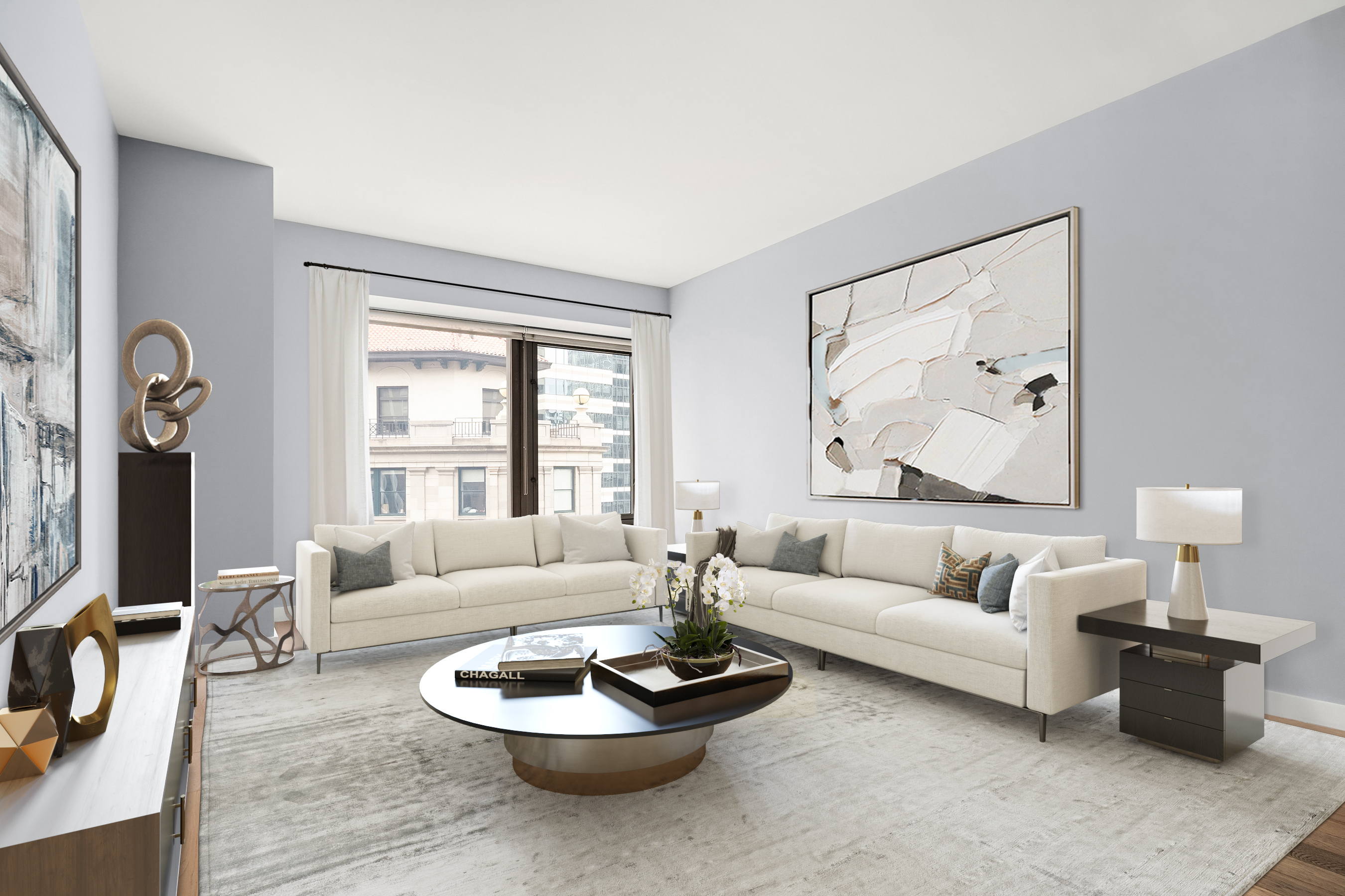 """Once in a lifetime INVESTMENT OPPORTUNITY to own a bright and pristine 826 square foot 1 bedroom / 1.5 bathroom apartment in one of the most coveted buildings in the Financial District! Located on the world-renown Wall Street, Apartment 26K has a great tenant in place.  Owner is a MOTIVATED SELLER.  It won't last long!Upon entering, you are welcomed home to a gorgeous open living area with soaring 10'3"""" ceilings and beautiful light that pours in through the oversized 6-foot windows with custom marble window sills. The open kitchen is a perfect place to cook and entertain, featuring top of the line finishes and appliances including a Bosch oven, Liebherr refrigerator and Miele dishwasher.The large bedroom fits a king-size bed, has a custom California walk in closet, and a chic en-suit bathroom featuring a double vanity and deep-soaking bathtub. With wide plank flooring throughout, a brand new LG washer/dryer set, and a completely redone powder room, unit 26K embraces New York living and gives you a fantastic escape.75 Wall offers a 24/7 hour staff with concierge hotel service including housekeeping and valet laundry. Residents have access to parking, an indoor/outdoor sky terrace with breathtaking 360 degree city views, and a state of the art fitness center, yoga and pilates studio. This prime Wall Street location is just steps away from some of the finest restaurants and bars in lower Manhattan, and offers world class shopping at Brookfield Place and The World Trade Center Oculus which is home to one of the most diverse retail collections in New York City encompassing more than 100 fashion, beauty, and lifestyle brands. The South Street Seaport is just a short distance away with its many shops and eateries situated on the East River while you enjoy the stunning views of Brooklyn and Manhattan's iconic bridges. Unit 26k is a MUST-SEE!"""