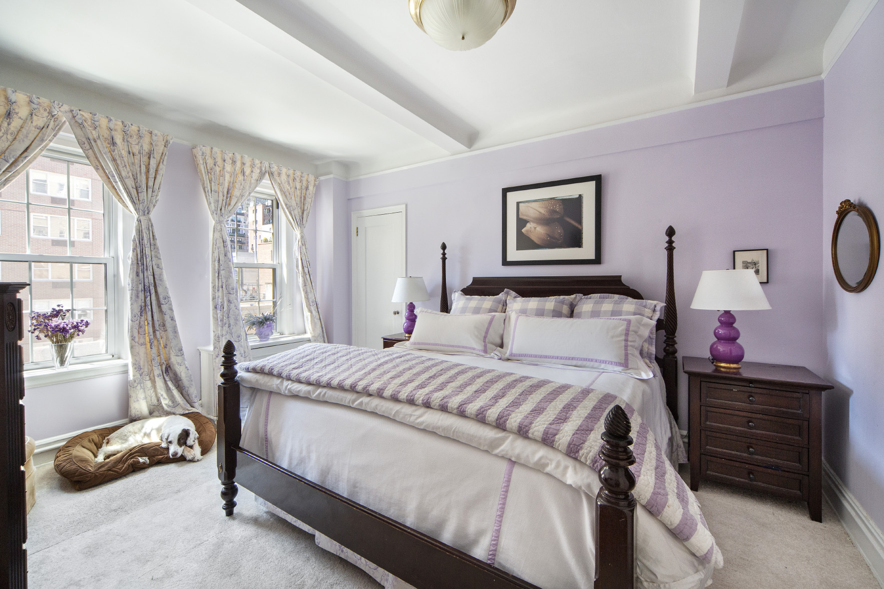 lavender colored apartment in new york