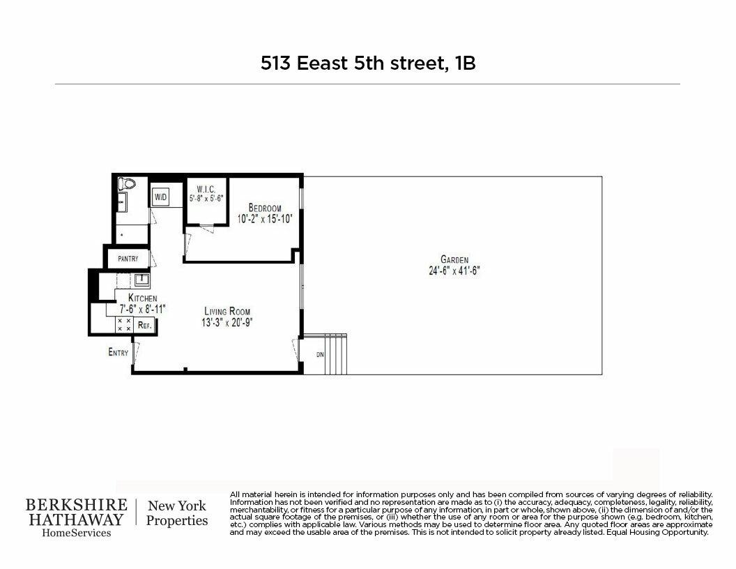 513 East 5th Street E. Greenwich Village New York NY 10009