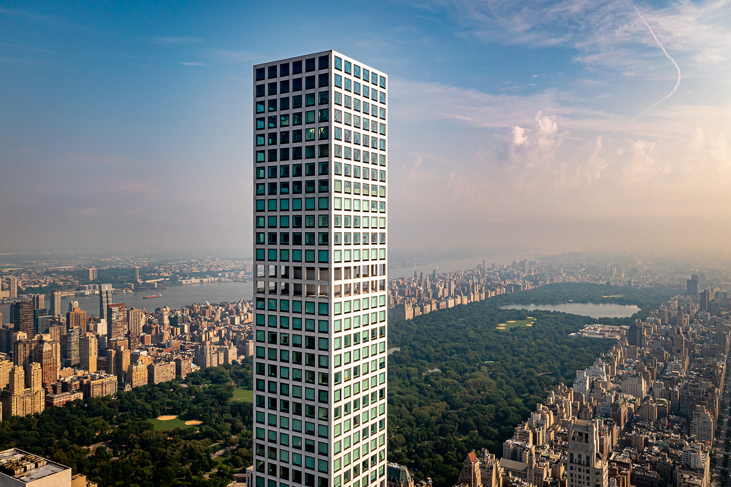 The true Penthouse of 432 Park Avenue – floor 96 of 96 – at the world's most celebrated ultra-luxury tower.  One-of-one. A trophy unlike any other in the world. Never before on the market. All furniture and art will be included in the sale.  The apex Penthouse is a sky mansion with 8,255 sq. ft. of pristine interior space. Unique features include a 93-foot-long living and dining great-room, 240 linear feet of glass with 360-degree views over Manhattan through 24 10 ft. × 10 ft. windows, and soaring 12.5 ft ceilings.  This home has the perfect layout, with 6 bedrooms plus a library, 7 full bathrooms, 2 powder rooms, and a collection of high-end fixtures and finishes like herringbone white oak floors, and designer furniture from Fendi, Bentley, and Hermes.  A private elevator landing opens into a sweeping east-facing great room with a wood-burning fireplace and a formal dining area. The sublime eat-in kitchen has the most stunning views of Central Park, and is equipped with marble floors, countertops, and backsplashes, white lacquer and natural oak cabinets, polished chrome fixtures from Dornbracht, a massive island, a north-facing breakfast bar, a butler's pantry with a utility sink, and a suite of high-end appliances from Miele. A pair of powder rooms serve the main living and dining spaces.  The primary suite is a sanctuary corner retreat with Central Park views, a sitting room, and couples' walk-through dressing rooms that lead to separate windowed bathrooms with slab marble walls, radiant heated floors, custom wood cabinets, floating tubs with incredible views, and carved oval sinks. Each of the remaining five bedrooms have ample closet space and a full en-suite bathroom.  A collaboration between Rafael Vinoly and Deborah Berke, 432 Park Avenue is an ultra-luxury condominium and one of the tallest residential towers in the world. Situated on Park Avenue just a few blocks from Central Park, the building rises 1,396 feet and has 30,000 sq. ft. of exclusive lifestyl