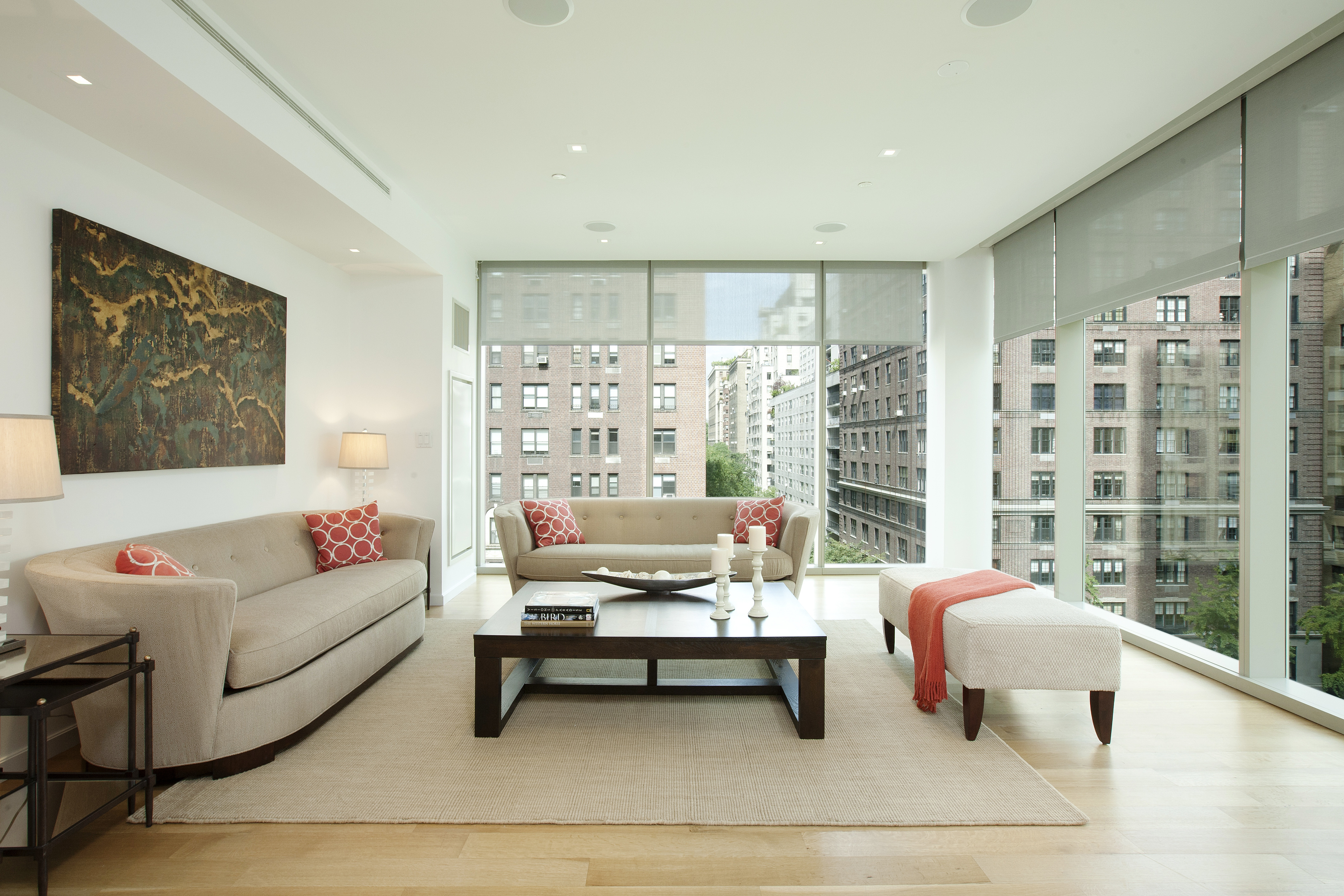 This modern and stunning 4 bedroom, 3.5 bathroom duplex is 2 blocks from Central Park!  Enter the home via direct elevator access onto the 6th floor and be instantly drawn to the dramatic floor-to-ceiling windows which offer an abundance of air and light. This level features a spacious corner living room overlooking the picturesque Northern and Western views over Park Avenue and 87th Street. The top of the line kitchen is outfitted with Corian countertops, Poggenpohl cabinetry, Miele and Sub-Zero appliances. In addition to the formal dining room, the eastern part of this level features a flexible 4th bedroom with en-suite bathroom. The spectacular staircase of frosted glass mounted on cascading white risers leads to the 7th floor upper level, also accessible by elevator. The bright corner master suite features a luxurious spa bathroom adorned with Dornbracht and Poliform fixtures flanked in white Rhino marble walls and floors. The generously sized 2nd and 3rd bedrooms, each with an abundance of closet space are adjoined by a tastefully designed white marble bathroom. This home is equipped with smart home technology system, central heating and air and full sized laundry room.  1055 Park Avenue is a boutique condominium with only five luxurious residences, offering privacy and white glove services: full-time doorman/concierge, building resident manager, and an exclusive fitness center. Working capital contribution equal to 2 months common charges payable by purchaser.